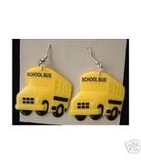Huge Funky Yellow SCHOOL BUS EARRINGS Driver Teacher Mom Charm Costume J... - $6.99
