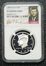 1998 S SILVER KENNEDY HALF DOLLAR 50C NGC PF 70 ULTRA CAMEO Coin SKU C150 - $46.71