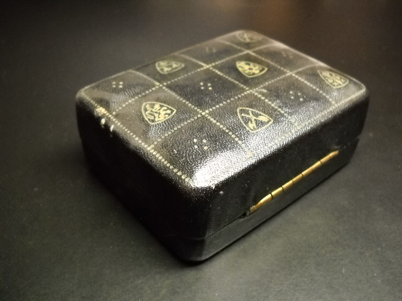 Swank Cuff Links and Tie Bar Golden and Black Metal Knot Look Presentation Box
