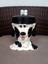 doggy dog treat cookie jar very rare Dalmation terrier - $28.06