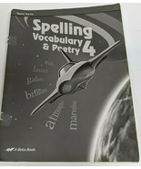 Abeka Spelling Vocabulary and Poetry 4 Teacher Test Key Third Edition - $2.97