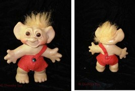 Vintage Troll Doll Figure Cute Wishnik Uneeda Doll red hair - $24.99