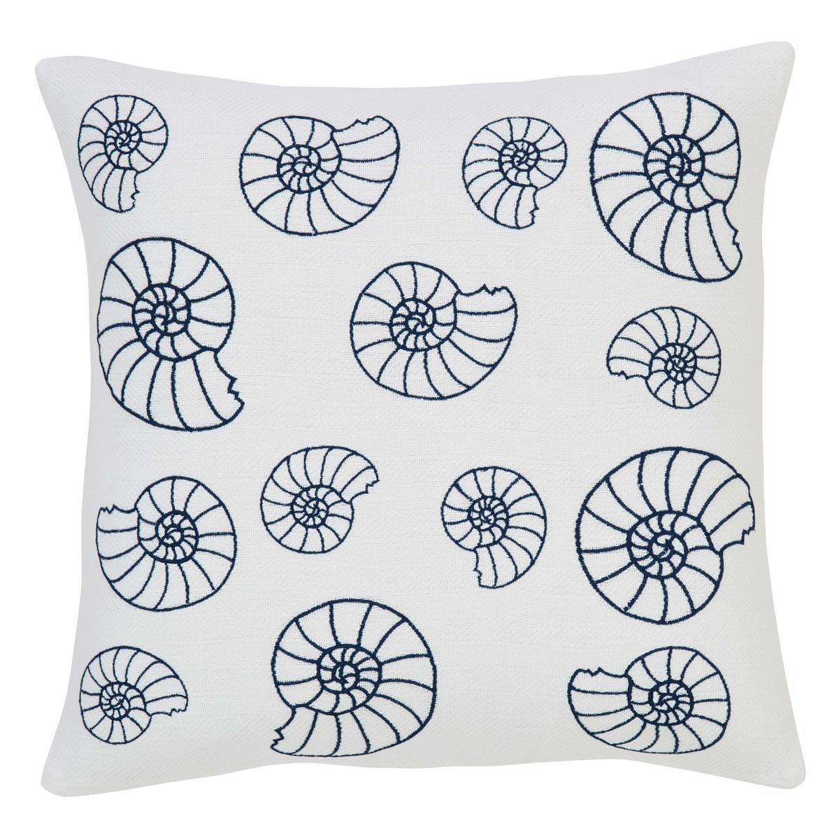 "Seashell Enchantment Pillow w/Down Fill - 18""x18"" - VHC Brands -Nautical Country"
