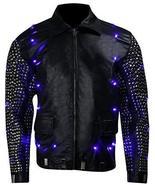 WWE Chris Jericho (Y2J) Light Up Black Studded Leather Jacket - $296.40+