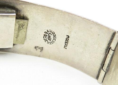 AMD MEXICO 925 Silver - Vintage Jasper Swirl Pattern Chain Bracelet - B6302 image 3