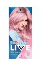 Schwarzkopf Live Pastels Rose Gold Semi Permanent Hair Dye For Blondes Baby Pink - $15.69