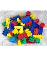 Assorted Duplo Compatible Building Blocks Tyco, Mega Blocks 1lb. 3 oz 69... - $12.19