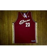 Authentic Reebok Cleveland Cavaliers LeBron James-Burgundy/White Road Je... - $149.99