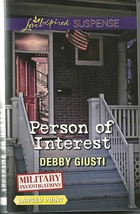 Person of Interest Debby Giusti(Military Investigations)Love Inspired LP... - $2.25