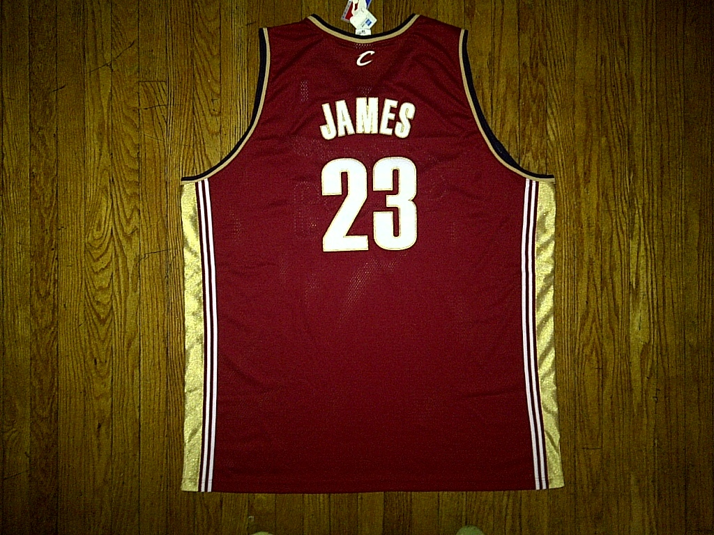 Authentic Reebok Cleveland Cavaliers LeBron James-Burgundy/White Road Jersey 60