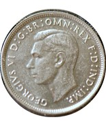 Australia, 1947 Florin, silver, Choice About Uncirculated - $14.25