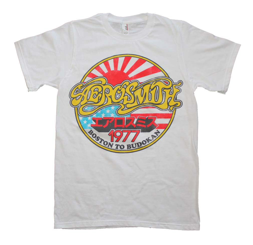 Aerosmith Boston to Budokan Vintage Inspired Slim Fit T-Shirt cotton tee AC/DC