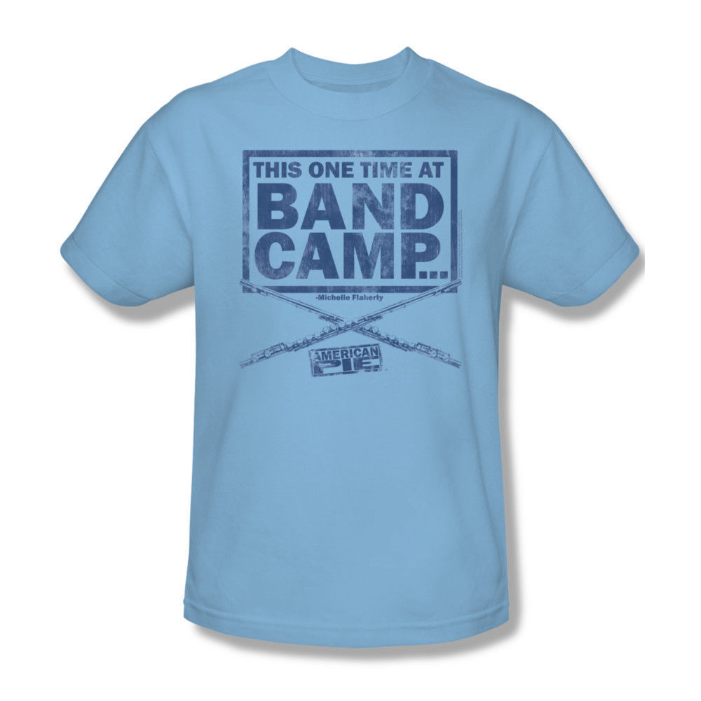 American Pie Band Camp T-shirt 100 % cotton movie graphic printed tee UNI265