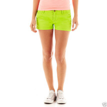 Arizona Bedford Cord Shorts Juniors Size 5 Mod Green New Msrp $34.00 - $12.99