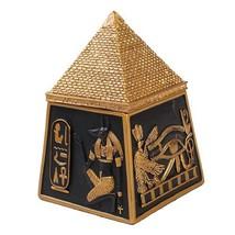 Egyptian Pyramid Jewelry Box Figurine Made of Polyresin - $25.74