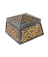 Medieval Celtic Keepers Jewelry Box Figurine Made of Polyresin - $23.56