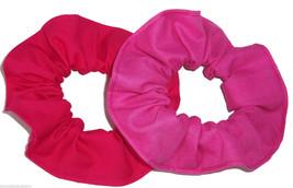2 Pink Pomegranate Tutti Fruti Cotton Fabric Hair Scrunchie Scrunchies by Sherry - $13.95