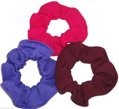 3 Purple Burgundy Gyspy Pink Lightweight Knit Fabric Hair Scrunchies by ... - $21.95