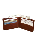 Genuine Leather Men Slim Wallet with Hidden com... - $24.99