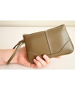 Butter SOFT Genuine LEATHER Flat Wristlet or Wa... - $11.99