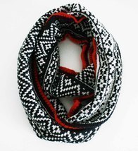 Infinity scarf REVERSIBLE Knitted Aztec print in Stunning TRI COLOR, UNI... - £17.07 GBP