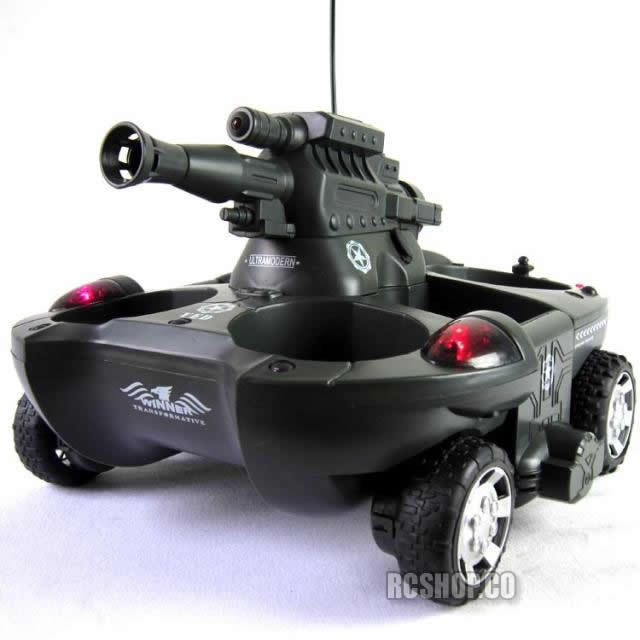 Amphibious RC Boat Airsoft BB Turret 4WD BATTLE WARGAME ARMORED V3 rc tank radio