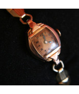 Rare 14K Solid gold vintage 1942 Ladies' Dress 17J Bulova Swiss  wristwatch - $350.00