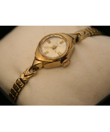 Gold Ladies' Vintage 1940's retro 17J Swiss Benrus oyster dial dress wri... - $50.00