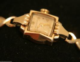 Vintage 1953 ladies',  fancy case,17J Swiss Bulova gold bracelet wristwa... - $100.00