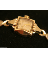 Vintage 1953 ladies',  fancy case,17J Swiss Bulova gold bracelet wristwa... - $100.00
