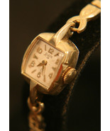 Vintage 1950's ladies' gold, American-Made, 19J, Elgin dress wristwatch   - $70.00