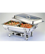 1/2 Size CHAFER PAN 4 PACK CATERING HOTEL CHAFING DISH HALF PANS - $75.24
