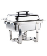 Choice Economy 4 Qt. Half Size Stainless Steel Chafer with bonus rebate - $54.05
