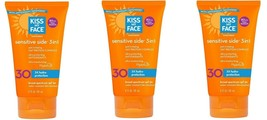 Kiss My Face Sensitive Side 3-in-1 Sunscreen Lotion SPF 30 4 oz Pack of 3 - $31.95