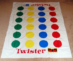Twister Game Replacement Mat Milton Bradley Hasbro - $9.90