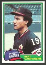 California Angels Bert Campaneris 1981 Topps Baseball Card # 410 nr mt - $0.50