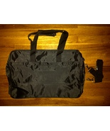 Calvin Klein CK Black Carry Travel Tote Luggage Weekend Gym Duffle Duffe... - $59.99