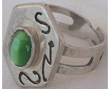 Green cat eye silver ring thumb155 crop