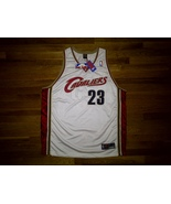 BNWT Authentic Nike Cleveland Cavaliers LeBron James White Maroon Home J... - $199.99