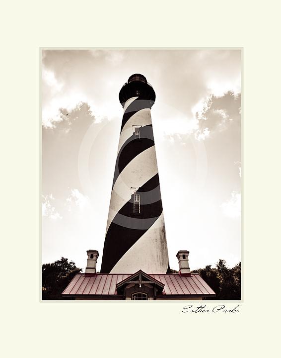'Florida Lighthouse' Fine Art Print - 8x10 print matted to 11x14