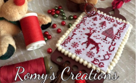 Silent Night Threadkeeper Kit christmas cross stitch kit Romy's Creations  - $20.00