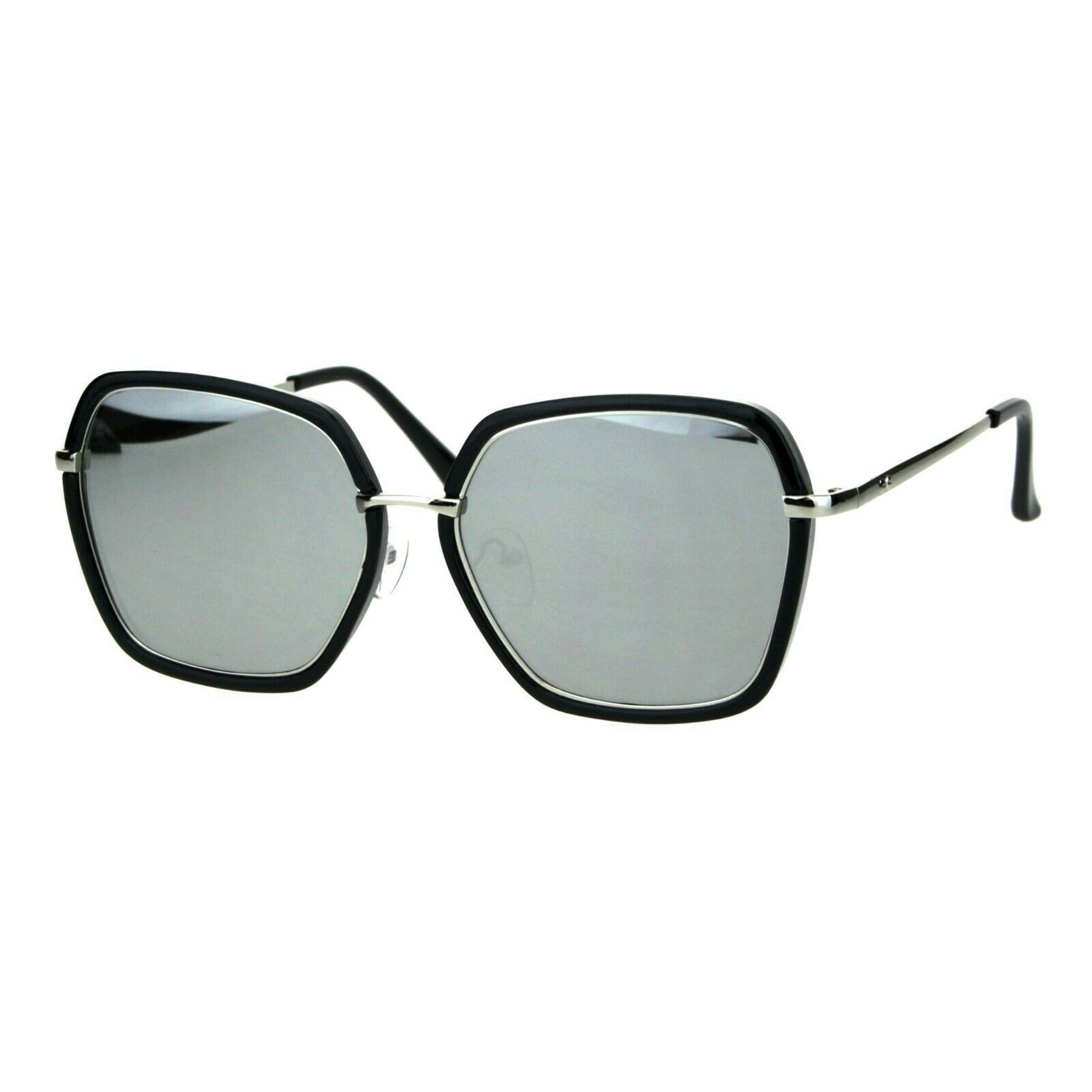 Double Frame Square Sunglasses Womens Designer Chic Shades UV 400