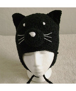 Black Cat Hat with Ties for Children - Animal Hats - Small - $16.00