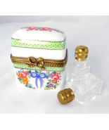 Limoges Box - Floral Trunk  & Perfume Bottles -... - $92.00