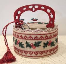 Holly Sewing Basket w/handle cross stitch chart Mani di Donna - $23.40