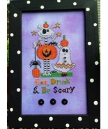 Be Scary cross stitch chart Amy Bruecken Designs - $7.20