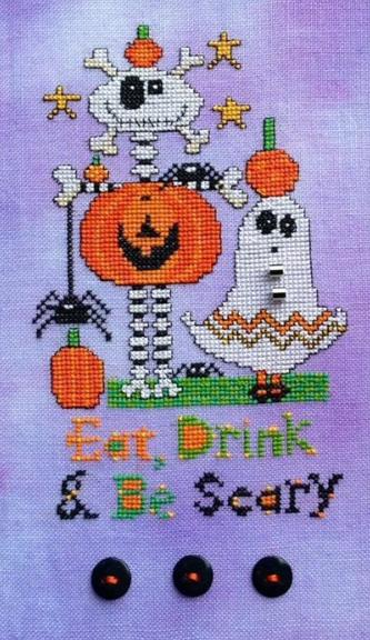 Be Scary cross stitch chart Amy Bruecken Designs