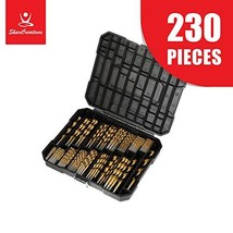 SharCreatives Twist Drill Bit Set Long and Short HSS Titanium Coated Bit... - $42.04