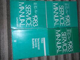 1983 DODGE AIRES Shop Repair Service Workshop Manual Set W TECH BULLETIN... - $128.68