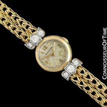 1950's JAEGER-LECOULTRE Vintage Ladies Backwind 18K Gold & Diamond Watch... - $1,857.10